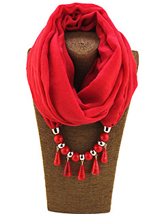 Damen Ganzjährig Aleación Baumwollmischung Resin mit Metallclip Infinity-Schal,Solide