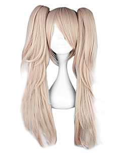 cheap Anime Cosplay Wigs-Cosplay Wigs Dangan Ronpa Junko Enoshima Anime/ Video Games Cosplay Wigs 65 CM Heat Resistant Fiber Women's