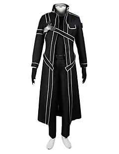 Inspired by Sword Art Online SAO Kirito Swordman Anime Cosplay Costumes Cosplay Suits Solid Coat Shirt Pants Gloves For Male Female