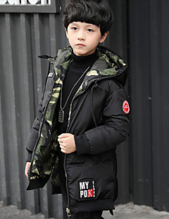 Boys' Solid Camouflage Down & Cotton Padded Black Army Green