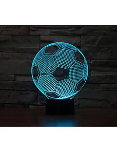 tanie Światła prezentów-1kpl 3D Nightlight USB Bateria Zmieniająca Kolor Dekoracyjna