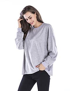 tanie Damskie bluzy z kapturem-Damskie Bawełna Długi rękaw Długi Bluzy - 3D Print