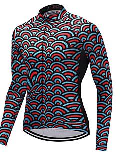 חולצת ג'רסי לרכיבה יוניסקס שרוול ארוך אופניים ג'רזי ייבוש מהיר פרחוני  בוטני חורף רכיבה על אופני הרים רכיבה על אופניים ספורט מוטורי אופני