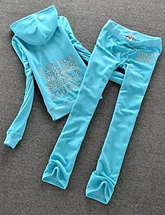billige Løbetøj-Dame Løbende skjorte med bukser - Rosa, Himmelblå, Marineblå Sport Figurer Fleece Træningsdragt / overtræksdragter / Tøjsæt Yoga, Pilates, Løb Langærmet Sportstøj Letvægt, Påførelig, Åndbarhed