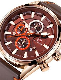 Pánské Sportovní hodinky Módní hodinky Náramkové hodinky japonština Křemenný Kalendář Stopky Svítící Pravá kůže Kapela Běžné nošení