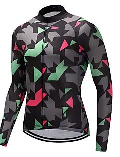 חולצת ג'רסי לרכיבה יוניסקס שרוול ארוך אופניים ג'רזי ייבוש מהיר 100% פוליאסטר גיזות להסוות חורף רכיבה על אופני הרים רכיבה על אופניים ספורט