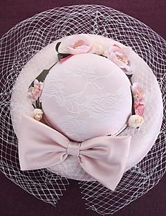 billige Trendy hatter-Dame Hatt Tradisjonell/vintage Chic & Moderne Elegant & Luksuriøs Bøttehatt Ensfarget