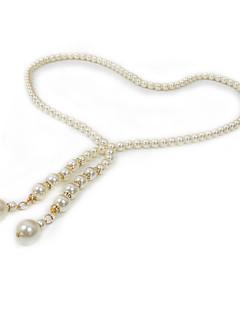 cheap Fashion Belts-Women's Irregular Style Imitation Pearl Rhinestone Alloy Chain - Solid Colored Fashion