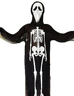billige Voksenkostymer-Skjelett / Kranium / Spøkelse Cosplay Kostumer Unisex Halloween / De dødes dag Festival / høytid Halloween-kostymer Hvit / Svart Annen