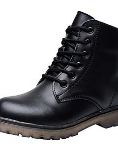 Χαμηλού Κόστους -Αγορίστικα Παπούτσια Δέρμα Χειμώνας Ανατομικό / Μοντέρνες μπότες / Μπότες Μάχης Μπότες Κορδόνια για Μαύρο / Μποτίνια