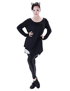 tanie Stroje do tańca latino-Taniec latynoamerykański Suknie Damskie Wydajność Modalny Długi rękaw Ubierać