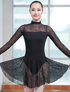 Balet Dámské Taneční vystoupení Spandex Dlouhé rukávy Přírodní Šaty