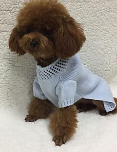 Koira Neulepaidat Koiran vaatteet Rento/arki Tukeva Vaalean sininen Asu Lemmikit
