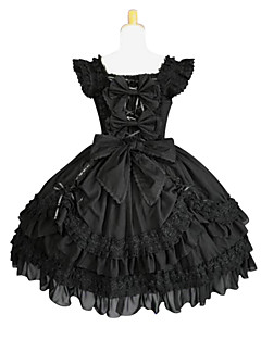 cheap Lolita Fashion Costumes-Gothic Lolita Lolita Women's Dress Cosplay Black Butterfly Sleeveless
