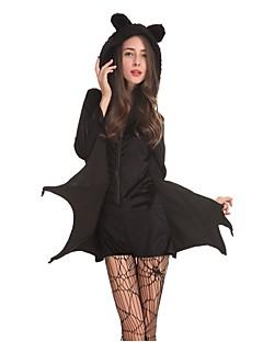 Batter Vampyrer Cosplay Kostumer Maskerade Kvinnelig Halloween Karneval Festival/høytid Halloween-kostymer Svart Helfarve
