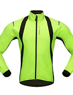 billige Sykkeljerseys-WOSAWE Langermet Sykkeljersey - Grønn Sykkel Jersey