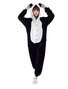 billige julen Kostymer-Voksne Kigurumi-pysjamas Panda Onesie-pysjamas Kostume Polar Fleece Svart / Hvit Cosplay Til Pysjamas med dyremotiv Tegnefilm Halloween Festival / høytid / Jul