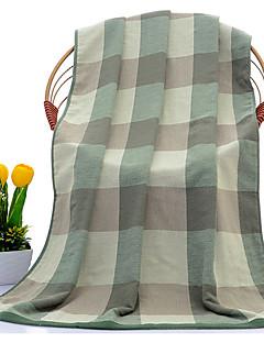 Frisse stijl Badhanddoek,Geruit Superieure kwaliteit Puur Katoen Handdoek