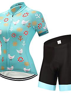 billiga Cykling-FUALRNY® Dam Kortärmad Cykeltröja med shorts - Grön Cykel Klädesset, Snabb tork Lycra