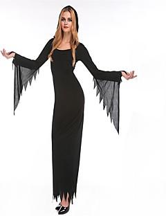 Gudinne Brud Cosplay Kostumer Maskerade Kvinnelig Halloween Karneval De dødes dag Festival/høytid Halloween-kostymer Svart Mote Helfarve