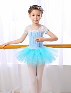 zullen we ballet outfits kinderen prestaties katoen korte mouw hoge rokken turnpakje