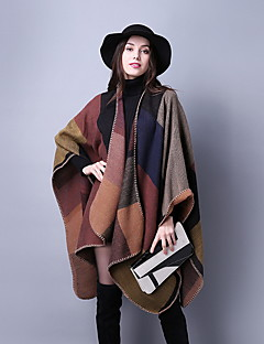 Women's Acrylic Polyester Rectangle Striped Winter Fall/Autumn