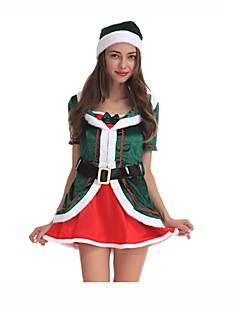 Prinsesse Nisse drakter Cosplay Kostumer Julefest Tilbehør Kvinnelig Halloween Jul Karneval Nytt År Festival / høytid Halloween-kostymer