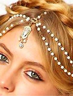 Women's Alloy Rhinestone Imitation Pearl Head Chain,Vintage Style Pearl Boho Imitation Pearl Rhinestone Acrylic Spring/Fall All Seasons