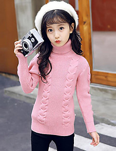 Girls' Solid Blouse,Rayon Winter Fall Casual White Black Red Blushing Pink Gray