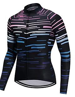 חולצת ג'רסי לרכיבה יוניסקס שרוול ארוך אופניים ג'רזי ייבוש מהיר 100% פוליאסטר גיזות גראפי חורף רכיבה על אופני הרים רכיבה על אופניים ספורט