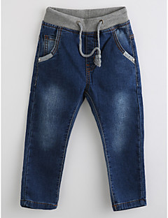 Boys' Solid Jeans-Cotton Fall