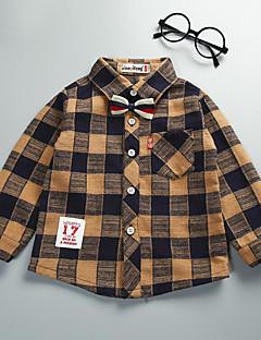 Jungen Hemd Schottenmuster Baumwolle Herbst Lange Ärmel