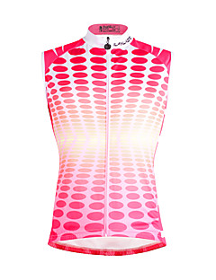 cheap Cycling Clothing-ILPALADINO Men's Sleeveless Cycling Jersey - Red and White Rainbow Bike Vest/Gilet Jersey, Quick Dry