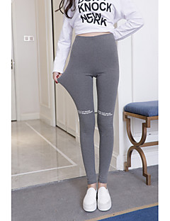 baratos Leggings para Mulheres-Mulheres Esportivo Legging - Letra, Estampado Cintura Alta / Look Esportivo