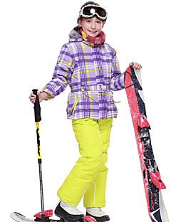 Phibee Meisjes Ski-jack & broek Warm waterdicht Winddicht Draagbaar Ademend Anti-statisch  Skiën Polyester