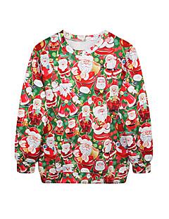 billige julen Kostymer-Nisse drakter Jerseysjakke Dame Jul Festival / høytid Halloween-kostymer Regnbue Printer