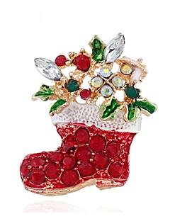 hesapli Noel Dikmeler-Tatil Yılbaşı takıları Tatil Mücevheri Kırmzı Krom Cosplay Aksesuarları Yılbaşı