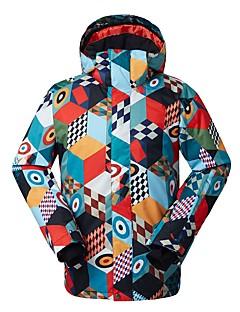 billiga Skid- och snowboardkläder-Herr Skidjacka Vindtät, Vattentät, Varm Skidåkning Miljövänlig Polyester, Silkesplagg Dunjackor Skidkläder