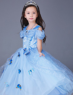 cheap Halloween & Carnival Costumes-Princess Cinderella Fairytale Cosplay Costume Party Costume Kid's Christmas Halloween Carnival New Year Children's Day Festival / Holiday