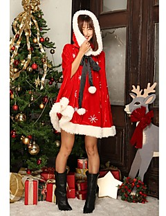 Santa Suits Mrs.Claus Cloak Female Christmas Festival / Holiday Halloween Costumes Red Sexy Lady