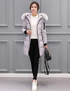 Women's Padded Coat,Cute Street chic Daily Solid-Cotton Long Sleeves
