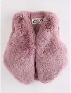 levne Dětská móda-Dívčí Umělá kožešina Jednobarevné Vesty