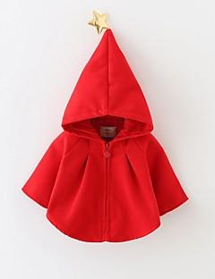 tanie Odzież dla dziewczynek-Bluzka Bawełna Dla dziewczynek Jendolity kolor Zima Wiosna Długi rękaw Urocza Kreskówka Czerwony
