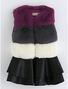 hesapli İndirimli Satışlar-Kız Pamuklu Çizgili Kolsuz Elbise Vintage Gri