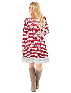 billige julen Kostymer-Reinsdyr Badedrakt Kjoler Julkjole Festival / høytid Halloween-kostymer Rød