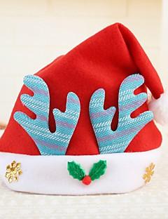 billige julen Kostymer-Ferie Nisse drakter Hatter Rød Blå Rosa Klede Cosplay-tilbehør Jul