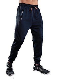 baratos -Homens Calças de Corrida Calças Correr Exercício e Atividade Física Terylene Preto Cinzento Azul Real S M L XL XXL
