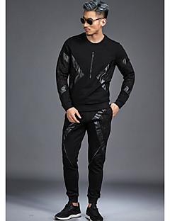 billige Herrebukser-Herre Afslappet Bukser Bukser Ensfarvet