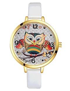 billige Leopard-ure-Dame Quartz Armbåndsur Kinesisk Stor urskive PU Bånd Mat Sort Farverig Elegant Sort Hvid Blåt Rød Brun Pink Lilla Rose Himmelblå