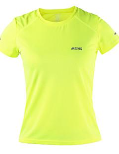 billige Løbetøj-Arsuxeo Dame Rund hals Løbe-T-shirt - Orange, Lysegul, Himmelblå Sport Toppe Yoga, Fitness, Træningscenter Kortærmet Sportstøj Åndbart, Hurtigtørrende, Anti-statisk Uelastisk / Refleksbånd